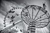 Wave Swinger (FerencSeitzPhotography) Tags: blackandwhite chicago fun outdoors blackwhite nikon ride spin belly beast navypier upshot bottomsup ferencseitzphotography flickraward5 silverefexpro2 d800e
