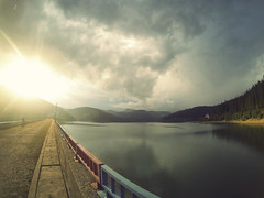 (spoe.) Tags: bridge lake storm photography crossing over romania biketrail sinaia gopro bulbucea