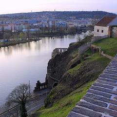 Libuse's Baths Ruins (oxfordblues84) Tags: sky water river europe prague praha czechrepublic vltavariver vyšehrad vikingrivercruise 5photosaday libusesbaths