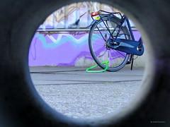 Streetview (Ineke Klaassen) Tags: street old streets abandoned broken bike bicycle circle outdoor circles object streetphotography objects tunnel round fietsen stad streetview fiets straatbeeld straat notinuse voorwerpen voorwerp straatfotografie opstraat twittertuesday twittertuesdaycircles
