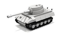 King Tiger mini tank (Tamas090) Tags: panzer kingtiger germantank tigerii panzervi ww2tank kingtigertank minilegotank