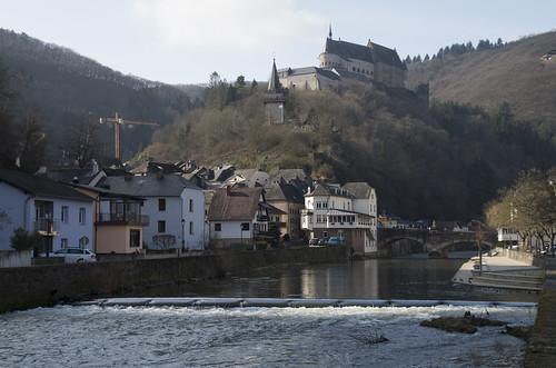 View to Vianden Castle, 08.03.2016.
