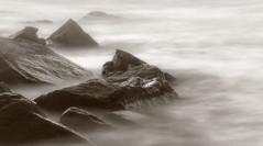 Visions of Heaven (JDS Fine Art & Fashion Photography) Tags: heaven fog longexposure ocean beach sea waves rocks monochrome