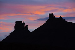 Fisher Towers (Harry2010) Tags: sunset colourful rocks crags towers pink sky silhouette utah southwest fishertowers wow