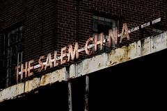 Salem China (rickhanger) Tags: thesalemchinaco urbex urbanexploration urbandecay abandoned abandonedfactory sign