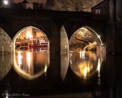 River reflections (Andy Gibbins Images) Tags: longexposure night nikon durham bridges reflections nightscape colours serene d5500 river water northeastuk
