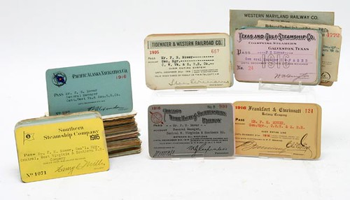 1916 RAILROAD PASSES used by F. E. Mower manager Central WV and Southern Railroad ($1,344.00)