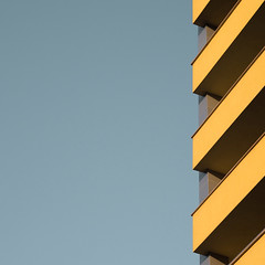 (simeongalabov) Tags: abstract architecture blue building facade lines minimalist orange pattern sky