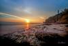 Sunset at Diamond Head Beach Road 02 (JUNEAU BISCUITS) Tags: diamondhead diamondheadbeachpark hawaii oahu honolulu sunset vog clouds cloudscape ocean beach landscape nikond810 nikon longexposure leefilters