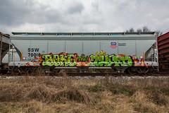 (o texano) Tags: houston texas graffiti trains freights bench benching boke therd tko