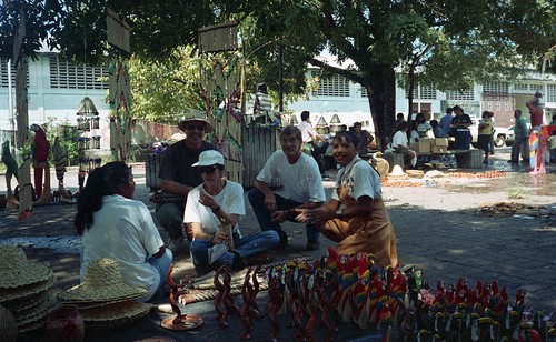 Willie, Kaye, and Bill at the local market in Puerto Ayacucho
