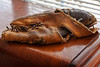 An old friend has been found (hz536n/George Thomas) Tags: baseballglove canon5d dickhouser 2016 ef24105mmf4lusm oklahoma rawlings trapeze winter baseball copyright glove refinish stillwater vintage