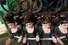 Wooden dolls for sale, Shwedagon, Yangon, Myanmar (Yekkes) Tags: asia myanmar burma yangon rangoon shwedagon craft art dolls wood buddhism religion faith travel