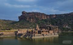 Bhuthanatha group of temples facing the Agasythya lake (Vinda Kare) Tags: india ancient karnataka badami temple vatapi bagalkot lake sandstone architecture