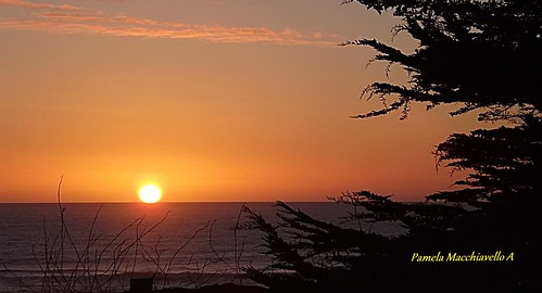 Sunset Pacific ocean