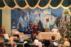 14. Sketch of Bogorodichnoe Village at the Assembly Hall / Сценка с.Богородичное в актовом зале 08.01.2017
