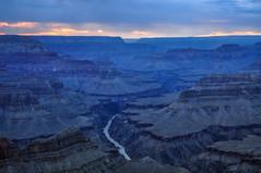 the blue hour........ (barfi*) Tags: bluehour canyon grandcanyon arizona nature landscape