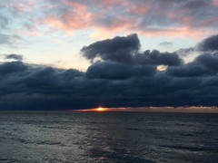 Dark Beginnings IMG_4104 (iloleo) Tags: iphone sunrise ashbridges toronto clouds lakeontario scenic winter sun nature