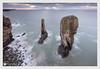 duet (Stuart Leche) Tags: altanticocean celticsea cliffs coast greenbridgeofwales longexposure pembrokeshire rocks sea stacks wales waves