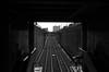 Fortress of Solitude (Blue Nozomi) Tags: desolate alone loneliness black white rail track emptiness mrt metro transit edsa commute manila philippines transport