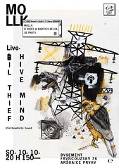 Oil Thief.Hive Mind (gigposterscz) Tags: molly oilthief hivemind