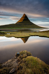 Triple Kirkjufell? (Sander Grefte) Tags: kirkjufell sunset landscape mountain iceland zonsondergang landschap berg ijsland nikon tokina1228mm light licht reflectie reflection