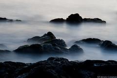Rocce - Lungomare di Catania (fabriziocostanzo) Tags: acqua lungomare mare scogli tramonto rocce catania water sea seafront rocks sunset twilight fog