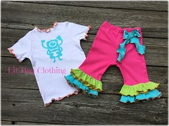 MONSTER (Lil' Bug Clothing) Tags: monster girl outfit tee capris knit