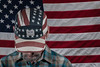 Dispirited (The.Mickster) Tags: self hat portrait camouflage flag american hereios 365 political randy