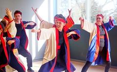 Soran Bushi Practice (Sakuramai Toronto) Tags: jccc spring festival japan japanese tolife dance music danceto yosakoi ilovejapan 春祭り 春 祭り 日本 日本人 トロント カナダ 踊り 音楽 よさこい indoor indoors window sunlight people girl dancer smile costume color red blue