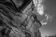 DSC00140 (Damir Govorcin Photography) Tags: cliff rock formation clouds sky natural light landscape wide angle perspective creative composition la perouse bare island