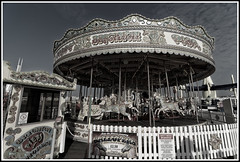 Brighton Pier (jim_2wilson) Tags: brightonpier sonya99 minolta1735mmf28f4 partialbw funfair carousel