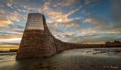 La Rocque harbour. (Tim_Horsfall) Tags: sunset pier harbour jersey uk beach sand sea coast shore dusk sun sky clouds ef1635mm f4l is usm canon 6d