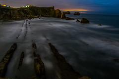Playa de la Arnía - Cantabria (davidiglesanchez) Tags: cantabria arnía arnia liencres playa nocturna españa