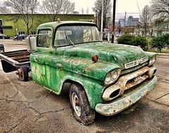 Classic Green (creepingvinesimages) Tags: htt truck green gmc 1950s rust outdoors portland oregon samsung galaxy s7 snapseed pse14 topaz