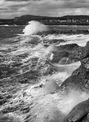 6-6-2015 (Copperhobnob) Tags: sea sky sun storm beach clouds coast scotland waves fife gale shore elie possibly