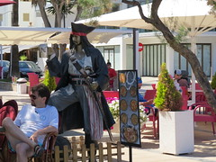 Well armed pirate (Jean Bloor) Tags: restaurant cala majorca millor piratedrinkingalecutlasspistolcustomerrestaurant