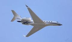 Gulfstream Aerospace G650 N650GA (Overhead Lee Airfield) 2015 (SupaSmokey) Tags: lee overhead aerospace airfield gulfstream 2015 g650 n650ga