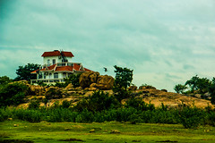 A Dream House (harry_anthony) Tags: blue house water where dreams lonely hyderabad called sagar fulfilled a at himayath