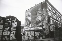 Hanbury Street art (goodfella2459) Tags: street white black london art film analog 35mm nikon 100 whitechapel milf f4 spitalfields hanbury adox silvermax