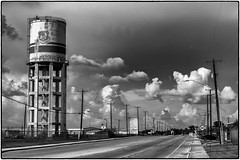 Clean Water? (spawc) Tags: city urban streets sanantonio texas watertower cityscapes architectural oldstructure bexarcounty