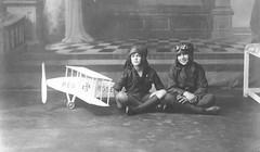 Miethke brothers with their toy plane (Aussie~mobs) Tags: boys plane vintage toy brothers australia queensland goldcoast paulmiethke robertmiethke