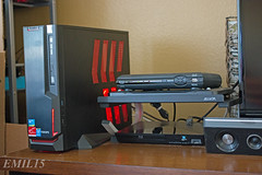 SFF HTPC (E_milTakesPics) Tags: tower home media theater box mini linux setup chassis build sff builds azza itx htpc azzatek