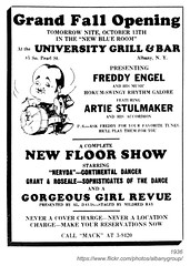 1936 university grill & bar (albany group archive) Tags: albany ny 1936 university grill bar south pearl freddy engel artie stulmaker nervda grant roseale