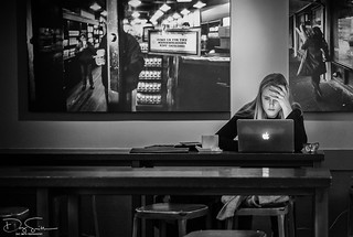 the girl with the laptop