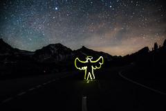 Gurnigel Light painting (felix.broennimann) Tags: lichtgraffiti lightgraffiti strasse langsamfahren sternenhimmel himmel stadt schweiz gurnigel gantrisch nacht sterne all weltraum weltall milchstrase universum astro galaxie abend dämmerung peranhalterdurchdiegalaxis engel