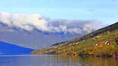Ystanes okt -13 (bjarne.stokke) Tags: norway norge norwegen naust hordaland høst hardanger hardangerfjorden skyer sørfjorden