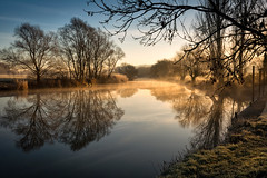 Winter on the Avon (cliveg004) Tags: riveravon eckington worcestershire river mist sunrise reflection frost winter trees countryside rural outdoor uk nikon d5200 challengegamewinner