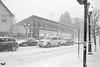 Film Photography: Winter Snowfall by Arthur's, Orchard Park, NY (NFE_0057) (masinka) Tags: photography film analog snow snowfall winter arthurs white nikon fe ilford delta 100 kodak xtol