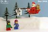 Dec 24th 2016 (Dave Bond Photography) Tags: lego christmas calendar city cityadventcalendar advent santa sledge husky dog flying snow minifig